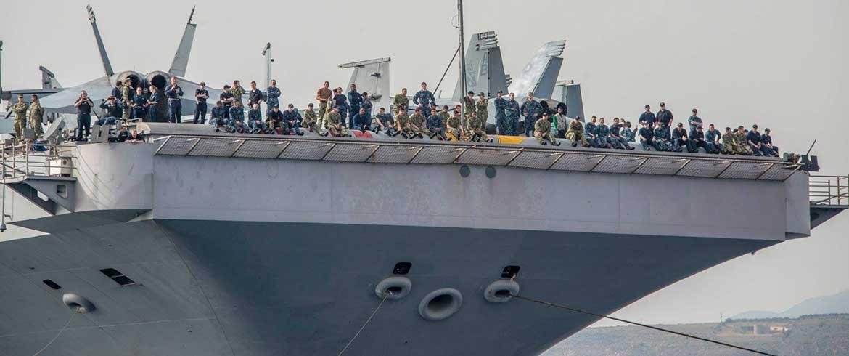 Σούδα | Εικόνες από το αεροπλανοφόρο «Τρούμαν» δημοσιοποίησε η Αμερικανική Ναυτική Βάση