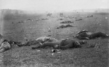 Aftermath of Battle of Gettysburg Photo by famous Civil War photographer, Timothy O'Sullivan