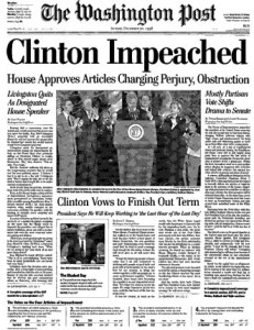President Bill Clinton Impeached