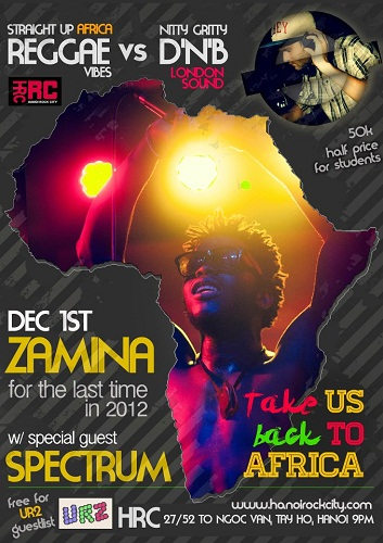 Back To Africa ZAMINA'S FINAL SHOW OF 2012