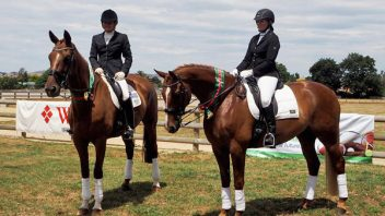 Wide ribbons for Lauretta and Latimer at NI Dressage Champs