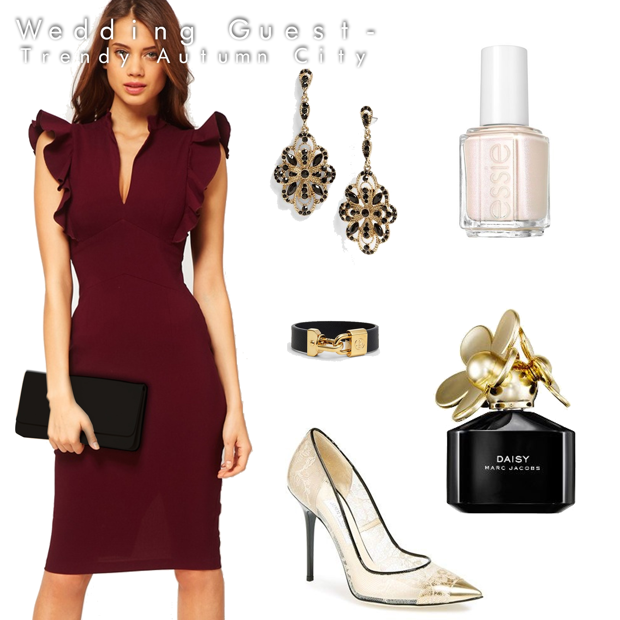 nail polish wedding guest dresses Wedding guest outfit for autumn
