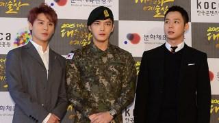 JYJ、「2015大韓民国大衆文化芸術賞」授賞式に3人揃った完全体で出席