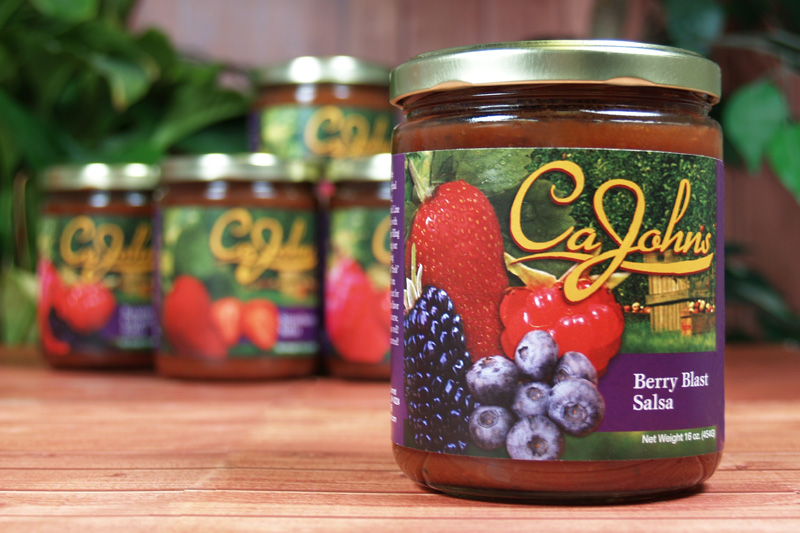 CaJohn Berry Blast Salsa Label