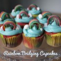 Rainbow Bridging Cupcakes (& Cake Push Pops)