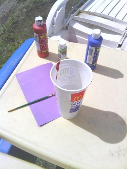 Acrylic Paint and Preschooler