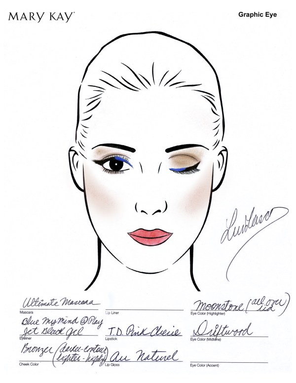 How to Get Project Runway Graphic Eyes Look #marykay #projectrunway