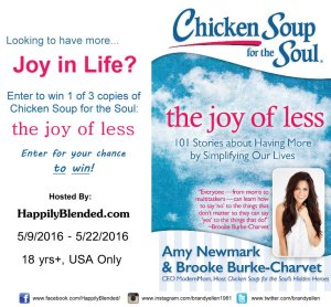 Giveaway: 3 Copies of The Joy of Less Book via Happily Blended Blog