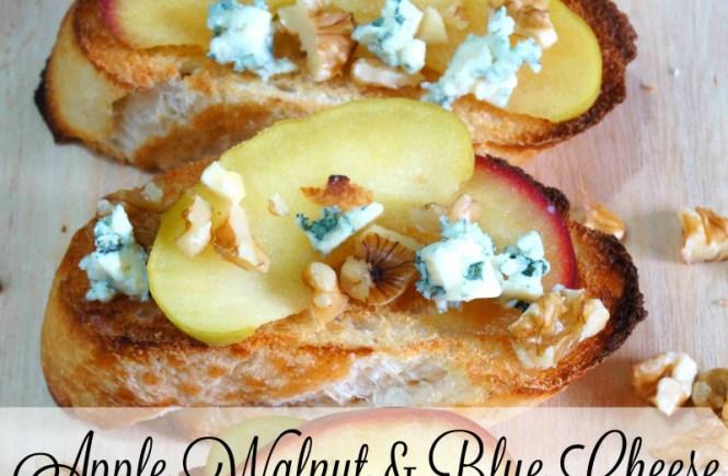 How to Make Apple, Walnut & Blue Cheese Bruschetta