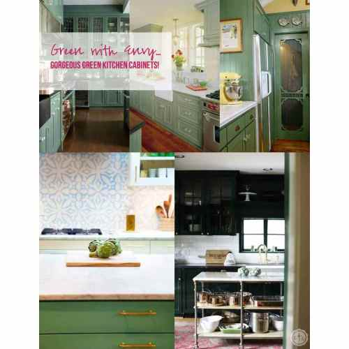 Medium Crop Of Green Kitchen Cabinets