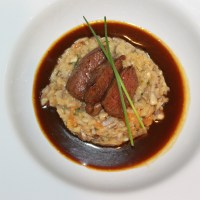 Fillet Steak in Madeira Sauce with Risotto - the 'eat-what-you-like-it-makes-no-difference' diet!