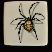 """Spider, ceramic, 1.375x1.375,"""" 2015"""