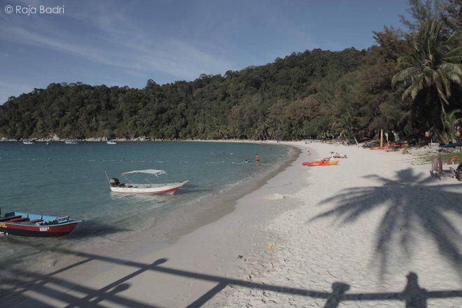 The beach of Perhentian Island Resort