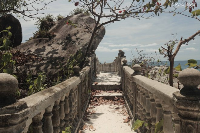 Concrete walkway leading to Teluk KK from Abdul's Chalet
