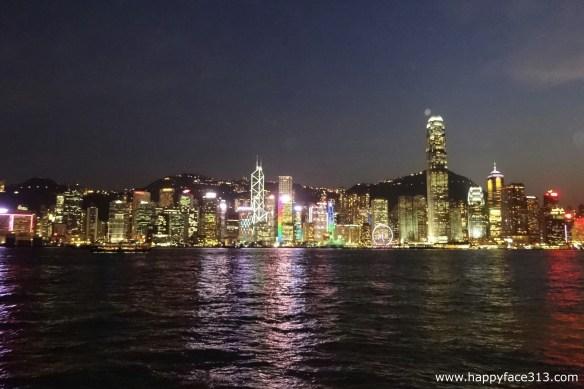Hong Kong sky line by night