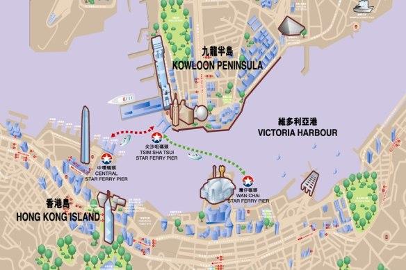 © Star Ferry - map / Karte