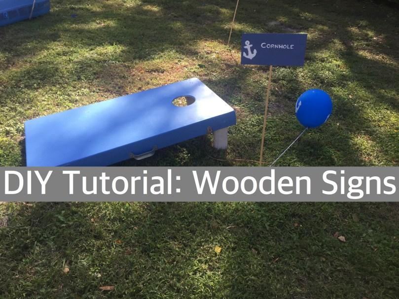 Happy Family Blog - DIY Tutorial: Wooden Signs