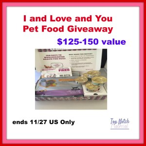 I and Love and You Pet Food Giveaway