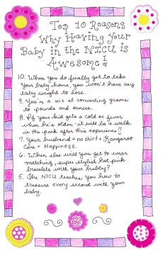 Top 10 Reasons Why Having a Baby in the NICU is Awesome