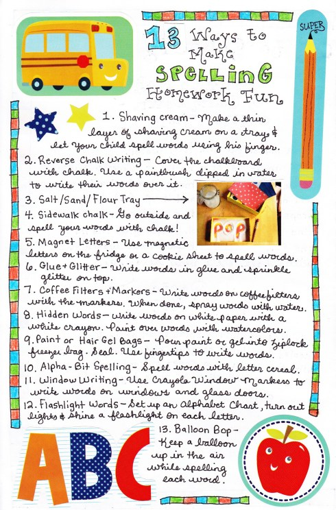 15 Ways to Make Spelling Homework FUN! Such easy and cute ideas!