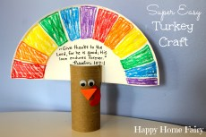 SUPER Easy Turkey Craft