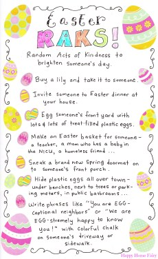 Random Acts of Kindness for Easter