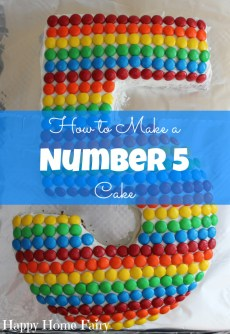 How To Make A Number 5 Cake