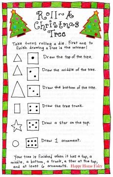Roll-A-Christmas-Tree Game – FREE Printable!