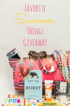 Favorite Summer Things Giveaway and Blog Hop