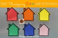 Simple Thanksgiving Color Game for Preschoolers