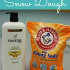 How to Make Snow Dough - ONLY 2 INGREDIENTS! 12 cup conditioner and 3 cups baking soda!