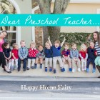 Dear Preschool Teacher