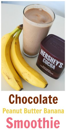 Recipe – Chocolate Peanut Butter Banana Smoothie