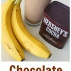 Chocolate Peanut Butter Banana Smoothie - SO EASY AND SO GOOD! Tastes like a Wendy's Frosty!