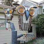 Junk Art by Patrick Amiot seen on Florence Ave in Sebastopol