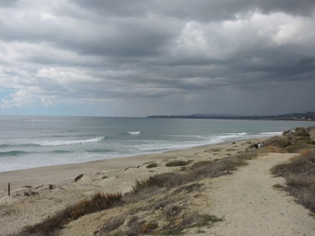 Looking north towards San Clemente at Trestles Beach