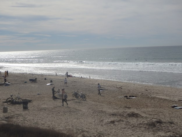Surfers at Trestles Beach