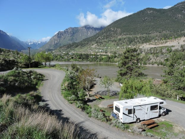 Our campsite along the mighty Fraser River at Fraser Cove Campground