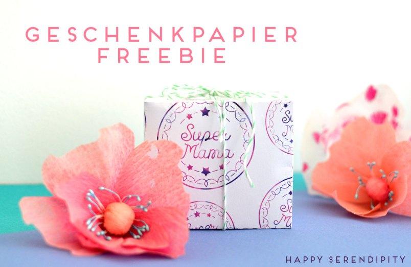 free printable geschenkpapier für die supermutti von happy serendipity