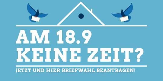 Am 18.09 keine Zeit? Briefwahl in Berlin