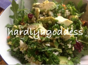 rice and kale salad