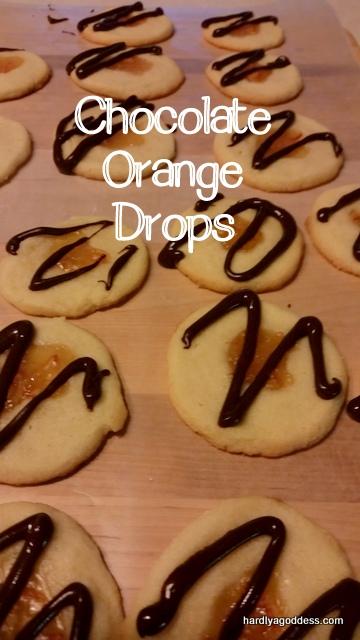 orange chocolate cookie drops