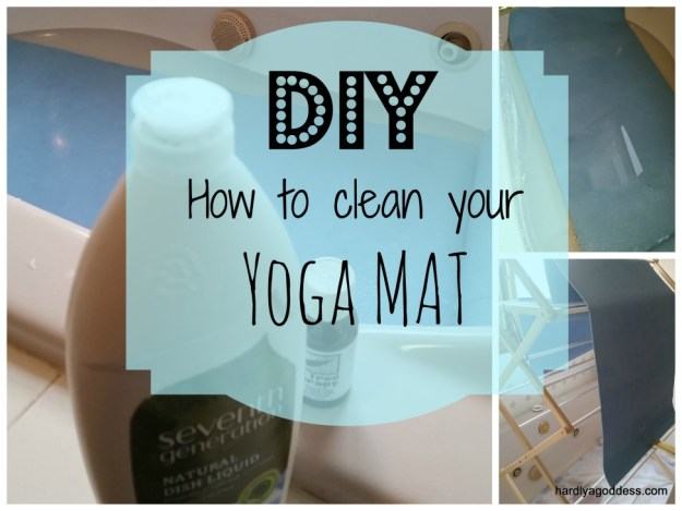 how-to clean a yoga mat