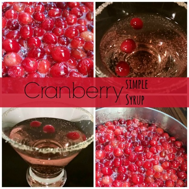 cranberry simple syrup cocktail