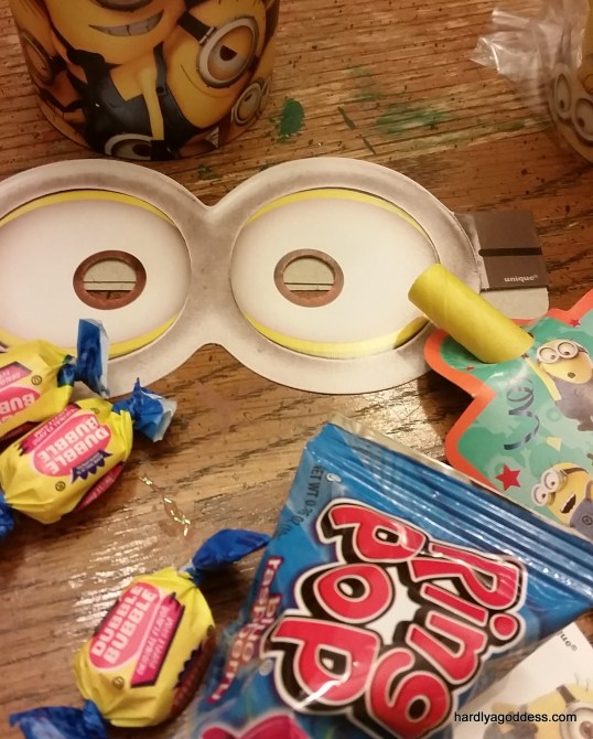 Goody Bags for minions party | Hardly A Goddess