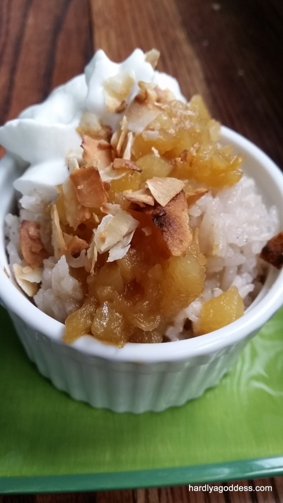pina colada rice pudding