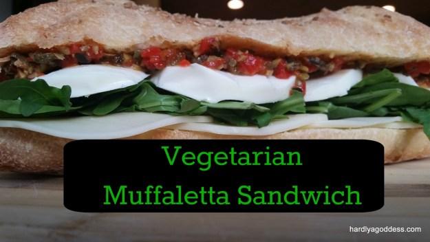 Vegetarian Muffaletta Sandwich