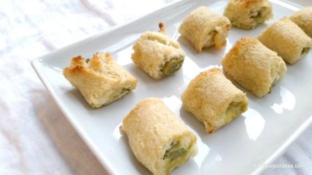 Blue Cheese Asparagus Bites #SundaySupper | Hardly A Goddess