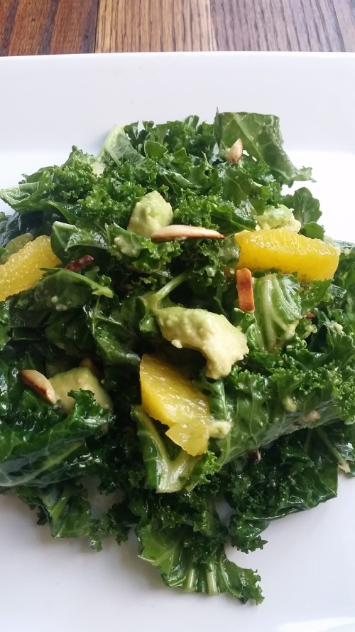 Citrus Kale Salad with Toasted Almonds & Avocado