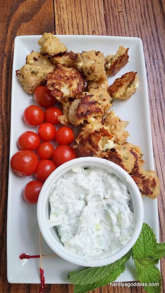 Greek Chicken Gyro meatballs